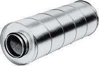Rohrschalldämpfer Rohranschluss DN 200, Länge. 600mm.