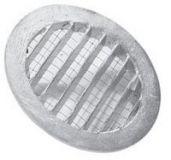 Ansauggitter rund,  Aludruckguss, d= 125mm,  D= 150mm.